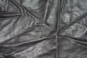Wrinkles in faux leather fabric